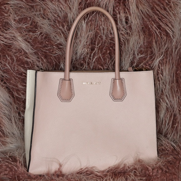 4a1dda0332e4 Michael Kors Mercer Large Color-Block Leather Tote.  M_5ac3f3cb2c705d4aed1b124f